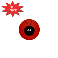 Red Cute Dazzled Bug 1  Mini Button (10 Pack) by CreaturesStore
