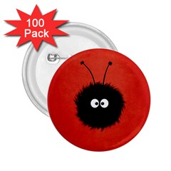 Red Cute Dazzled Bug 2 25  Button (100 Pack) by CreaturesStore