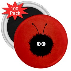 Red Cute Dazzled Bug 3  Button Magnet (100 Pack) by CreaturesStore