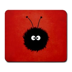 Red Cute Dazzled Bug Large Mouse Pad (rectangle) by CreaturesStore