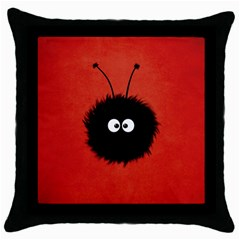 Red Cute Dazzled Bug Black Throw Pillow Case by CreaturesStore