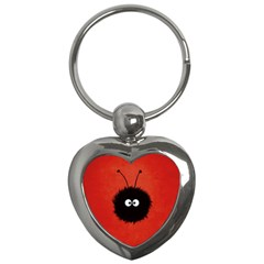Red Cute Dazzled Bug Key Chain (heart) by CreaturesStore