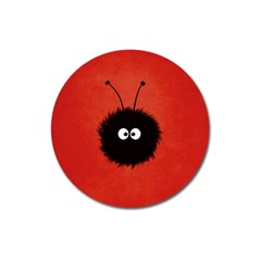 Red Cute Dazzled Bug Magnet 3  (round) by CreaturesStore