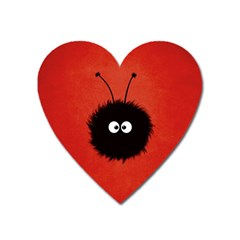 Red Cute Dazzled Bug Magnet (heart) by CreaturesStore