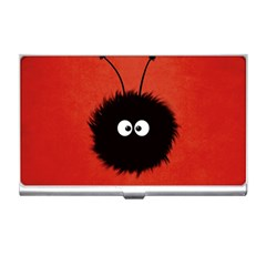 Red Cute Dazzled Bug Business Card Holder by CreaturesStore