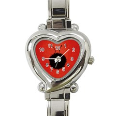 Red Cute Dazzled Bug Heart Italian Charm Watch  by CreaturesStore