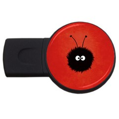 Red Cute Dazzled Bug 4gb Usb Flash Drive (round) by CreaturesStore