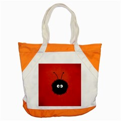 Red Cute Dazzled Bug Accent Tote Bag by CreaturesStore