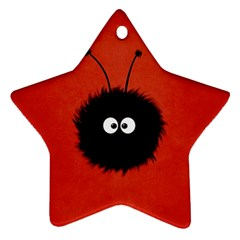 Red Cute Dazzled Bug Star Ornament (two Sides) by CreaturesStore