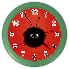 Red Cute Dazzled Bug Wall Clock (color) by CreaturesStore