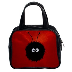 Red Cute Dazzled Bug Classic Handbag (two Sides) by CreaturesStore