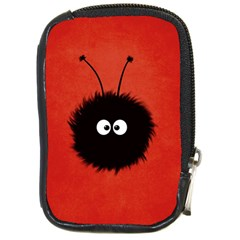 Red Cute Dazzled Bug Compact Camera Leather Case by CreaturesStore