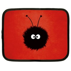 Red Cute Dazzled Bug Netbook Sleeve (xl) by CreaturesStore