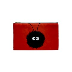 Red Cute Dazzled Bug Cosmetic Bag (small)