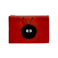 Red Cute Dazzled Bug Cosmetic Bag (medium) by CreaturesStore