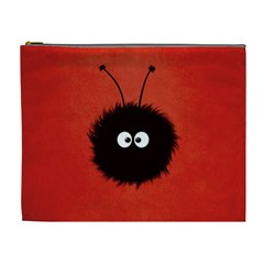 Red Cute Dazzled Bug Cosmetic Bag (xl) by CreaturesStore