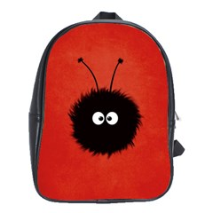 Red Cute Dazzled Bug School Bag (large)