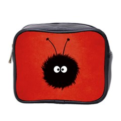 Red Cute Dazzled Bug Mini Travel Toiletry Bag (two Sides) by CreaturesStore