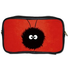 Red Cute Dazzled Bug Travel Toiletry Bag (two Sides) by CreaturesStore