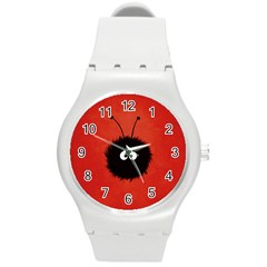Red Cute Dazzled Bug Plastic Sport Watch (medium) by CreaturesStore