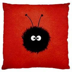 Red Cute Dazzled Bug Large Cushion Case (two Sided)  by CreaturesStore