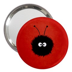 Red Cute Dazzled Bug 3  Handbag Mirror by CreaturesStore