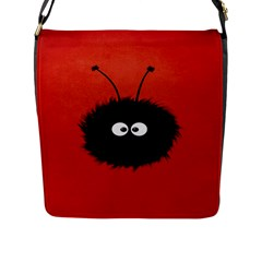 Red Cute Dazzled Bug Flap Closure Messenger Bag (large) by CreaturesStore