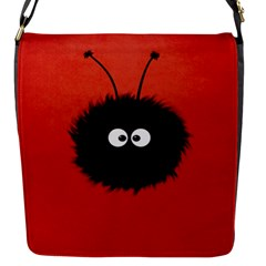 Red Cute Dazzled Bug Flap Closure Messenger Bag (small) by CreaturesStore