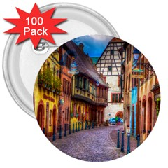 Alsace France 3  Button (100 Pack) by StuffOrSomething