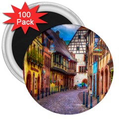 Alsace France 3  Button Magnet (100 Pack) by StuffOrSomething