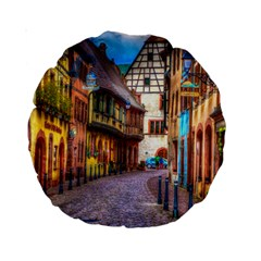 Alsace France 15  Premium Round Cushion  by StuffOrSomething
