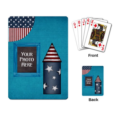 Celebrate America Playing Cards 1 By Lisa Minor   Playing Cards Single Design   J5rk2c4qz1ox   Www Artscow Com Back