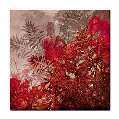 Decorative Flowers Collage Ceramic Tile
