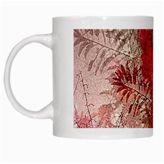 Decorative Flowers Collage White Coffee Mug