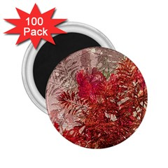 Decorative Flowers Collage 2 25  Button Magnet (100 Pack) by dflcprints