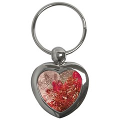 Decorative Flowers Collage Key Chain (heart) by dflcprints