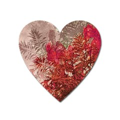 Decorative Flowers Collage Magnet (heart) by dflcprints