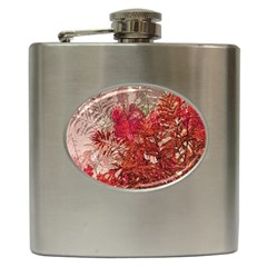 Decorative Flowers Collage Hip Flask by dflcprints