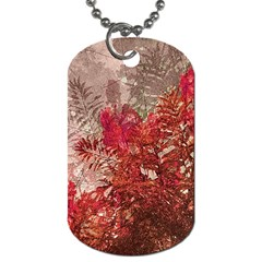 Decorative Flowers Collage Dog Tag (two Sided)  by dflcprints
