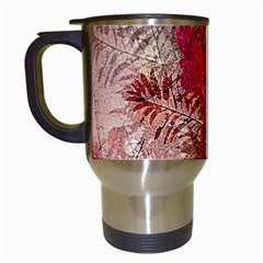 Decorative Flowers Collage Travel Mug (white)