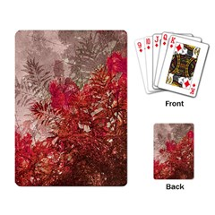 Decorative Flowers Collage Playing Cards Single Design by dflcprints