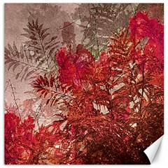 Decorative Flowers Collage Canvas 12  X 12  (unframed) by dflcprints