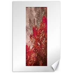 Decorative Flowers Collage Canvas 20  X 30  (unframed) by dflcprints