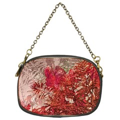 Decorative Flowers Collage Chain Purse (two Sided)  by dflcprints