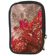 Decorative Flowers Collage Compact Camera Leather Case by dflcprints