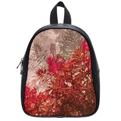 Decorative Flowers Collage School Bag (small) by dflcprints