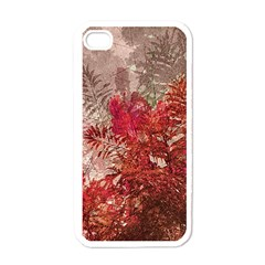 Decorative Flowers Collage Apple Iphone 4 Case (white) by dflcprints