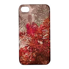 Decorative Flowers Collage Apple Iphone 4/4s Hardshell Case With Stand