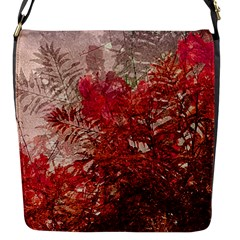 Decorative Flowers Collage Flap Closure Messenger Bag (small) by dflcprints