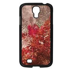 Decorative Flowers Collage Samsung Galaxy S4 I9500/ I9505 Case (black)
